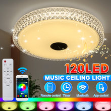 80 Colors Modern RGB LED Ceiling Lights Home lighting APP bluetooth Music Light Bedroom Lamps Smart Ceiling Lamp+Remote Control