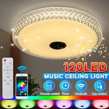 80 cores rgb moderno led luzes de teto casa iluminação app bluetooth música luz quarto lâmpadas lâmpada do teto inteligente + controle remoto