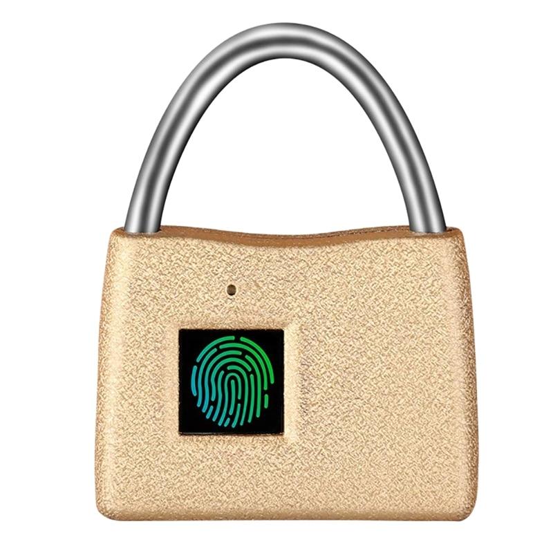 Keyless Biometric Fingerprint Padlock,Luggage Lock,Travel Lock - Suitable For School,Gym,Locker, Luggage Suitcase, Drawer, Cabin
