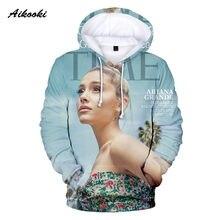 Seja bem recebido popular 3d ariana grande hoodies ariana grande menino/meninas com capuz 3d hoodies casuais masculinos camisolas clássicas