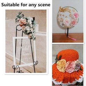 Image 3 - YOOROMER 5PCS אדמונית פרח ראשי דקורטיבי רעיונות מלאכותי פרח עבור בית חתונת מסיבת יום הולדת קישוט