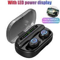 Auriculares inalámbricos V10 TWS Auriculares auriculares para celulares carcasas inalambrico auriculares Bluetooth pantalla LED