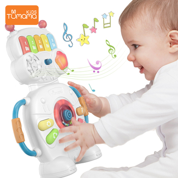 Tumama Multifunctional Musical Toys  Robot Piano Music Light Baby Toys 0-12  Educational Toys For Kids  Musical Instruments electronic toys sound light walking robot dog robot toy educational toys for children musical lol electronic pet dog