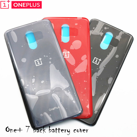 Original 3D Glass Oneplus 7  Battery Door Case Back Cover Rear Phone Housing Case For One Plus 7 Replacement Parts Pakistan
