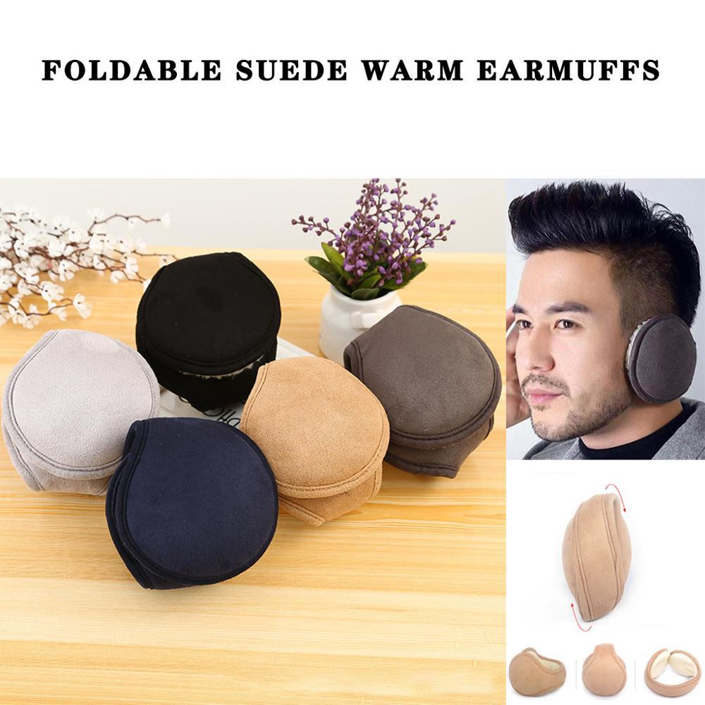 Ear Muffs Winter Ear Warmer Foldable Earmuffs Cover Mens Womens Behind The Head Band  Orejeras De Invierno  #3N27