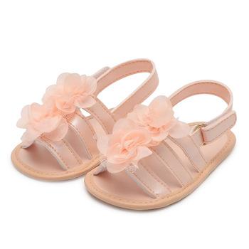 Sandały dla dziewczynek dziewczynek buty antypoślizgowe dziecięce sandały z wzorem w kwiaty dziecięce noworodki Infantil sandały dziecięce dziecięce letnie buty tanie i dobre opinie baby Mieszkanie z Lato Pasuje prawda na wymiar weź swój normalny rozmiar Baby girl