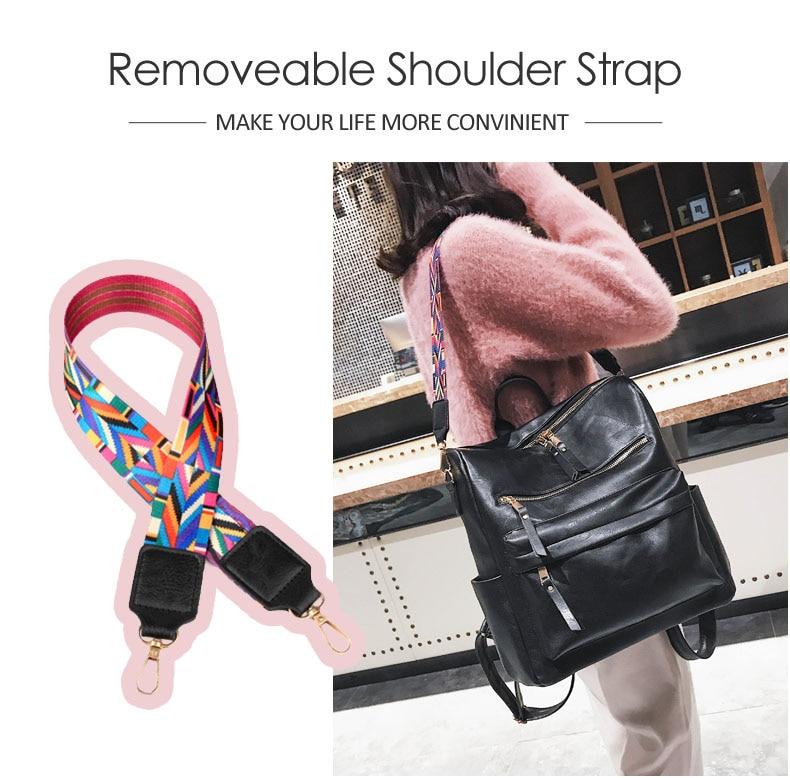 H62e5fcdff2b840f4a04710f7dbc78f3fo Leather Backpack Women 2019 Students School Bag Large Backpacks Multifunction Travel Bags Mochila Pink Vintage Back Pack XA529H