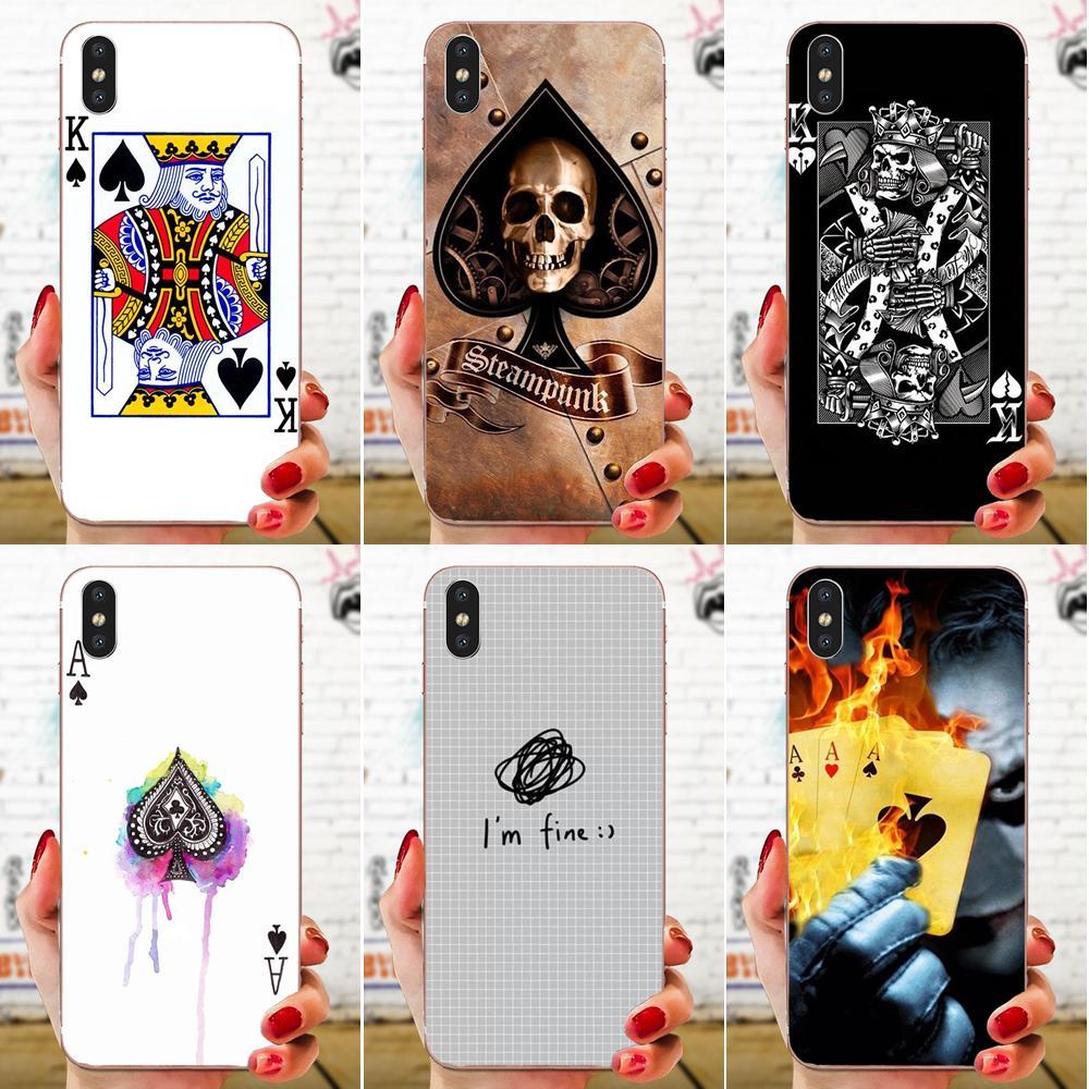 Poker King For Huawei Honor Mate Nova Note 20 20s 30 5 5I 5T 6 7I 7C 8A 8X 9X 10 Pro Lite Play Silicone Phone Bag Case