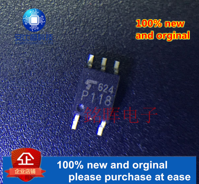 5pcs 100% New And Orginal TLP118 P118 20M High Speed Optical Coupling Isolator SOP-5 In Stock