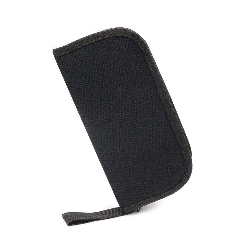Multi-functional Canvas Bag Watch Repair Portable Tool Bag Case Opener Watch Screwdriver Zipper Storage Tool Bag Black
