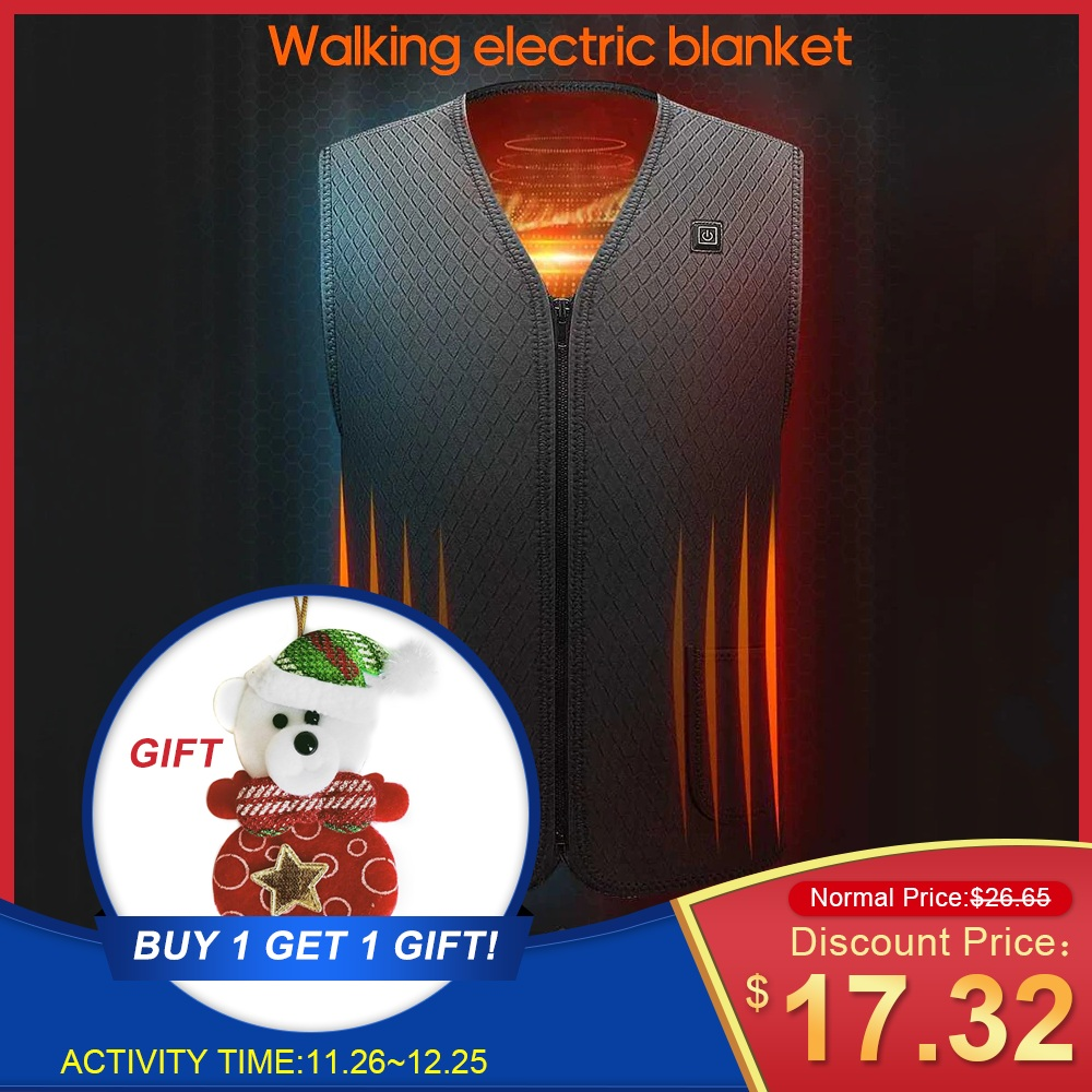 Outdoor Heated Jacket Heating Vest Hiking Clothing USB Charging Intelligent Electric Heated Vest Heating Clothes Submersible