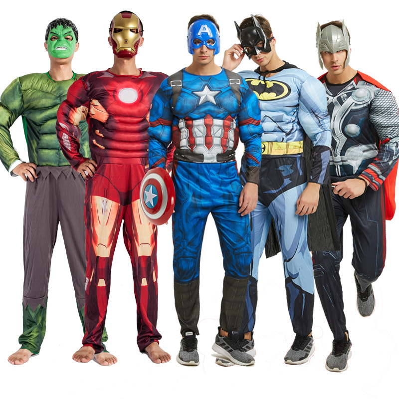 Cosplay Adult Muscle Hero Costume Hulk Superman And Other Hero Captain Superhero Halloween Christmas Costume