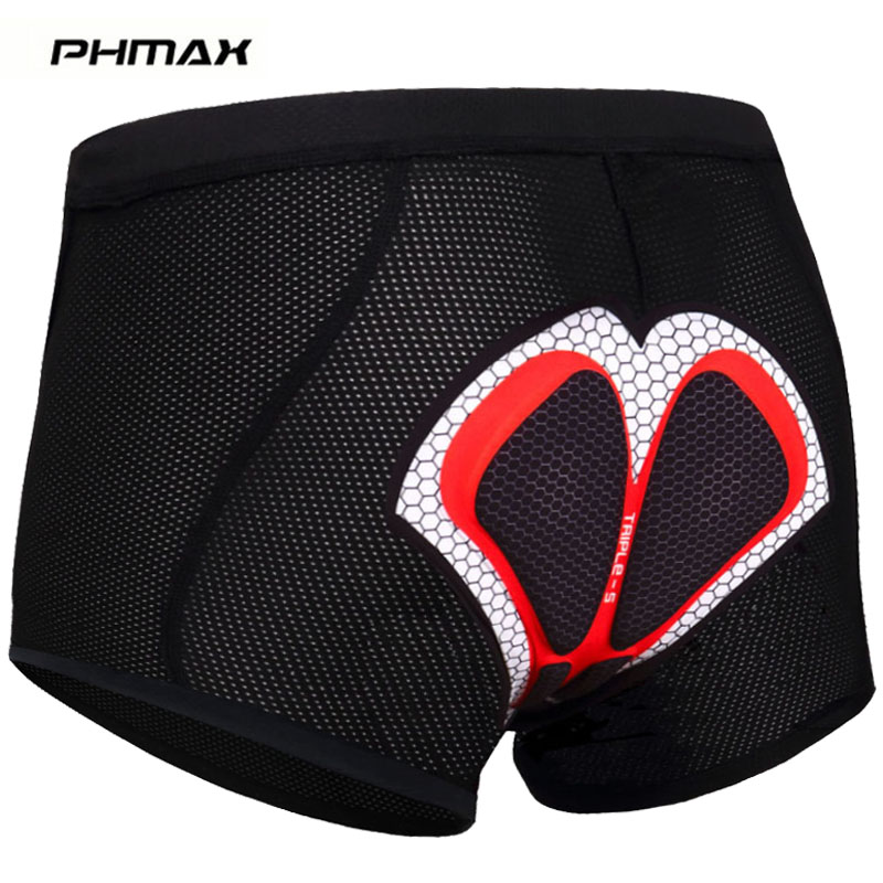 PHMAX 5D GEL Padded Cycling Underwear MTB Bicycle Cycling Shorts Riding Mountain Bike Sport Underwear Compression Cycling Tights