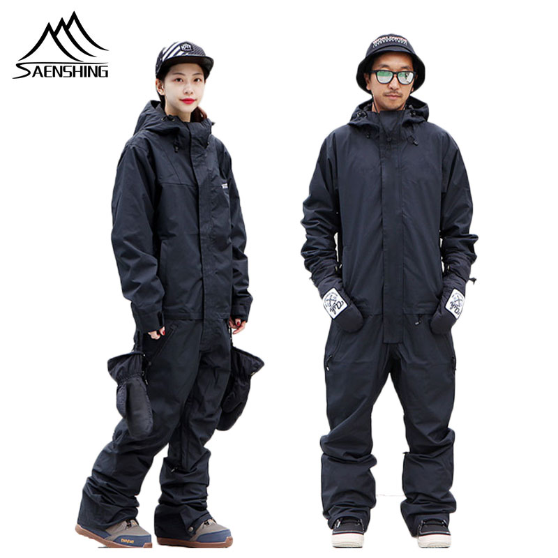 SAENSHING One Piece Ski Suits Women Winter Skiing Suit Waterproof Thermal Ski Suit Breathable Snow Suit Outdoor Snowboard Jacket