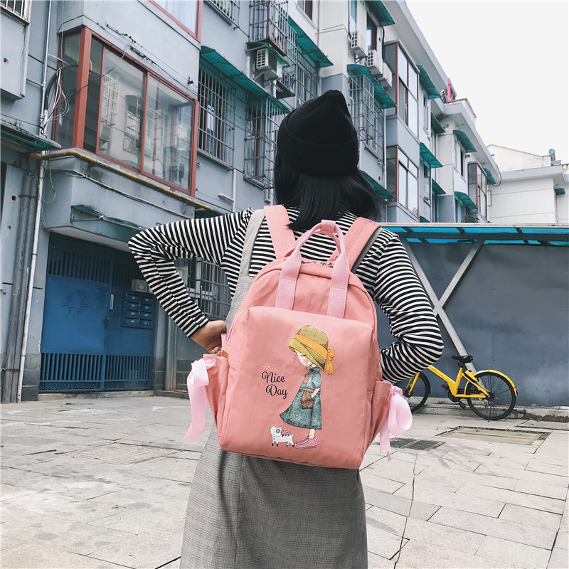 Ins Schoolbag Female Harajuku ulzzang High School Student Korean Mori Ancient Feeling Girl Backpack Backpack kanken Kiplingd image