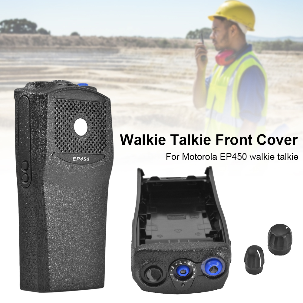 Ront Cover Front Casing With The Knobs Repair Housing Cover Shell For Motorola EP450 Walkie Talkie With Knob Shell