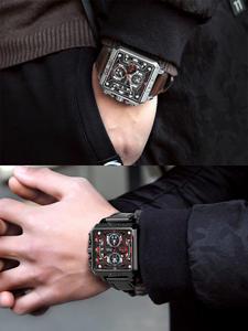 Мужские многофункциональные кварцевые часы BREAK, спортивные водонепроницаемые часы с секундомером и светящимся календарем