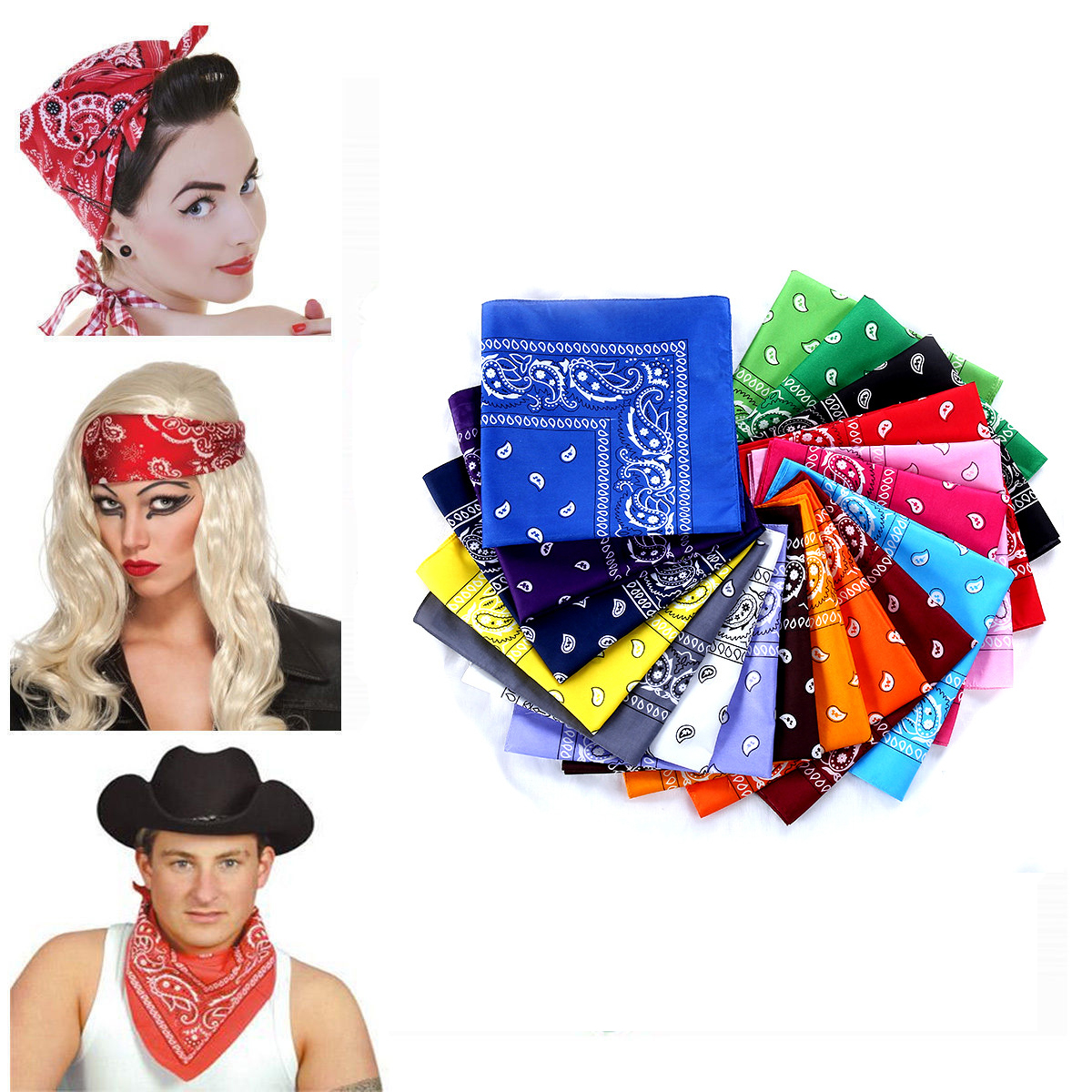 All Season Fits Unisex Scarf Gothic Pattern Pritned Cotton Bandana Head Wrap Headband Durag Bandanna Summer Bikers' Scarf Mask