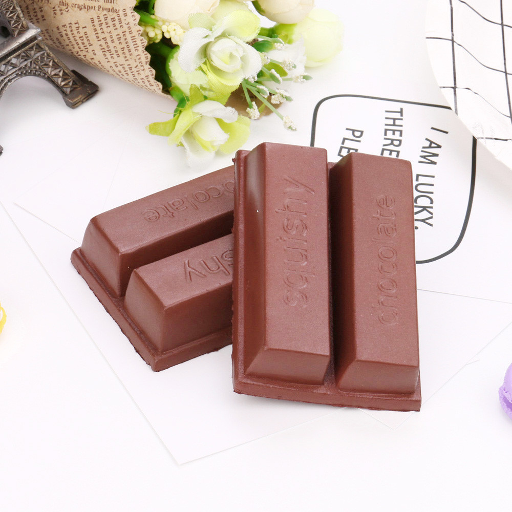Squishy Stress Relief Toy Funny Kids Squishy Squeeze Stress Reliever 8cm Simulation Chocolate Scented Slow Rising Toy  L1227