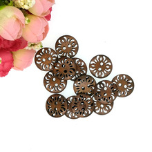 Sewing-Buttons Botoes Bottoni 18mm Scrapbooking Decorate Wooden 2-Holes Round Hollow