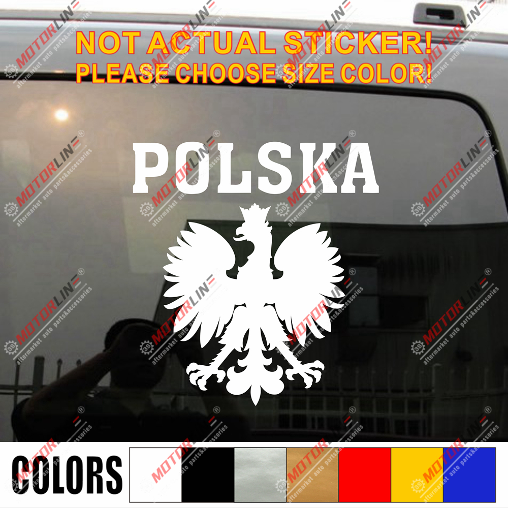 Poland Coat of arms Eagle Polska Herb Polski  Decal Sticker Car Vinyl Reflective