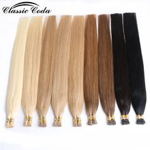 "цена на Classic Coda 1g/s 22"" Straight Keratin Capsules Human Hair I Tip Remy Pre Bonded Hair Extension 50g/pack"