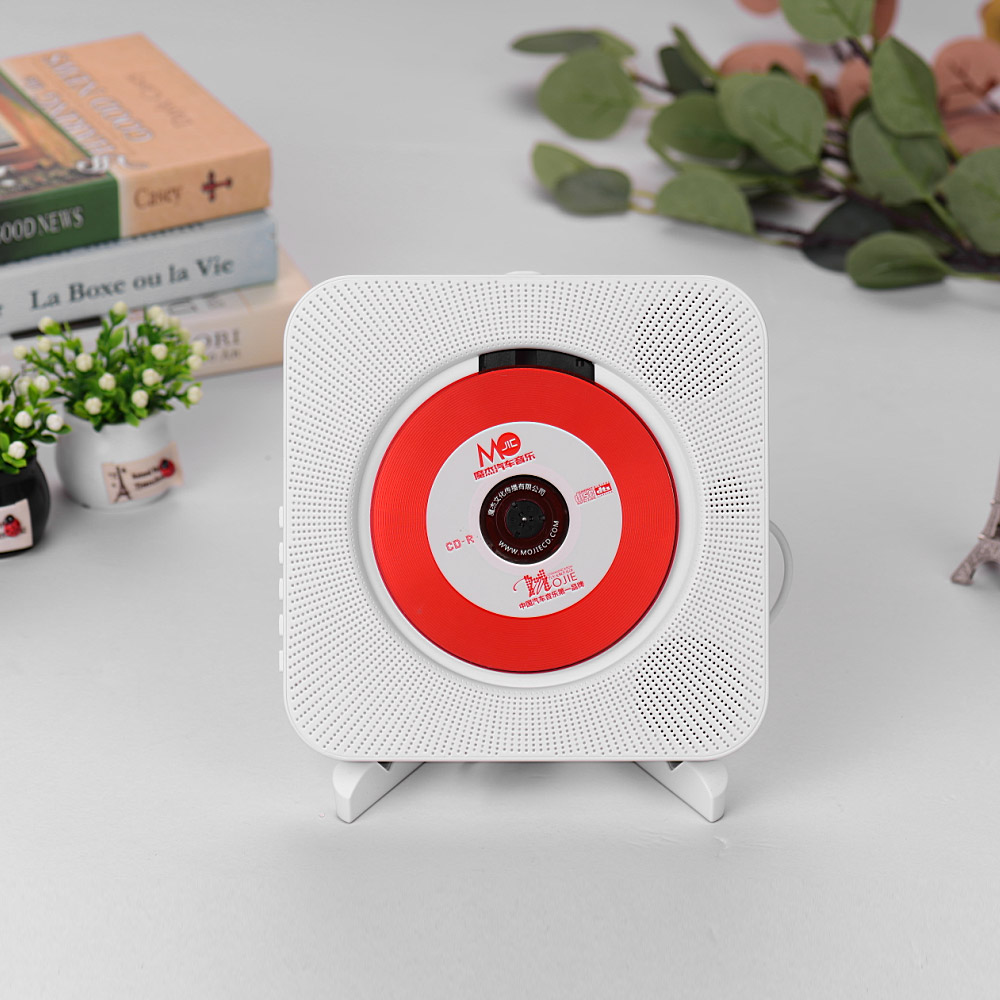 Lecteur CD Portable amplificateur de musique Audio Boombox mural avec télécommande prise en charge des Modes BT/USB/FM prise US bleue