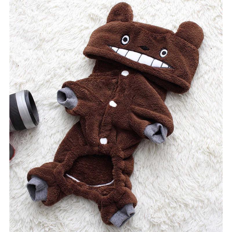 Vêtements pour animaux de compagnie hiver chaud polaire Chihuahua manteau vestes chiot chat sweats à capuche Costumes carlin bouledogue français vêtements