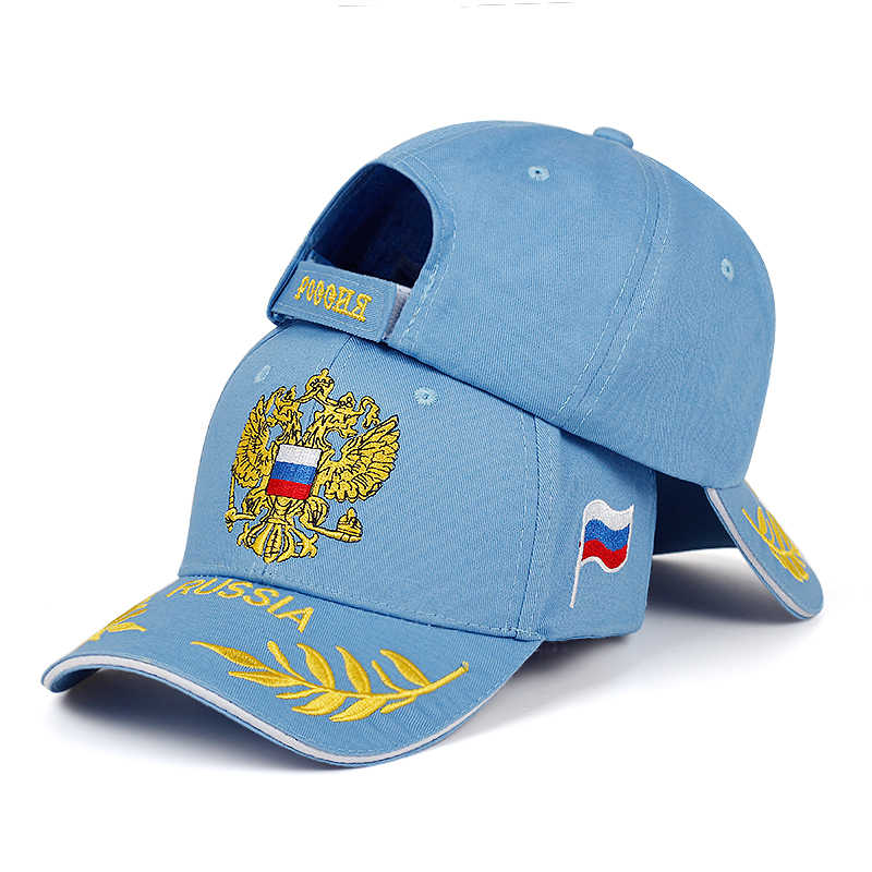 New fashion RUSSIA embroidered baseball cap fashion outdoor visor hat men women casual hats adjustable cotton100% sports caps