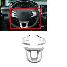 Stuurwiel Bescherming Versieringen Matte Chrome Geschikt Voor Peugeot 2008 208 Auto