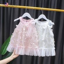 2021 summer new girl dress 3-7 years old children toddler fashion princess dresses baby girl Korean style vest costume