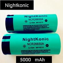 цена Original High Quality  Nightkonic  26650 Battery 5000mAh 3.7V 50A  Li-ion Rechargeable Battery For LED Flashlight Torch онлайн в 2017 году