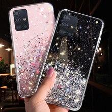 Bling Glitter Star Telefon Fall Für Samsung Galaxy Note 10 20 S20 Ultra S10 S9 S8 Plus A51 A71 A81 a91 A10 A20 A30 A50 A70 Fällen