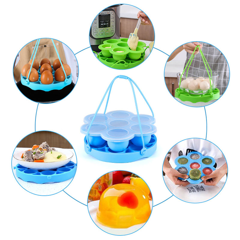 8qt Pressure Cooker Silicone Steamer Accessories Seal Lid Exhaust Valve 7-hole Food Supplement Box Steamer