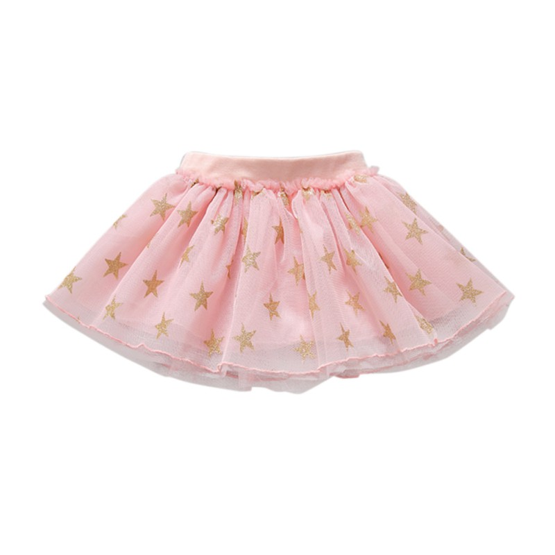 80-Red Baby Long Sleeve Knitted Tutu Dress Infant Princess Tulle Dress with Star Waistband Cotton Blend Skirt for Kids