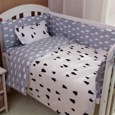 6/7PCS Baby Girl Crib Nursery Bedding Set Cot Kit Set Cotton Nursery Baby Kit Berço Duvet Cover ,120*60/120*70cm