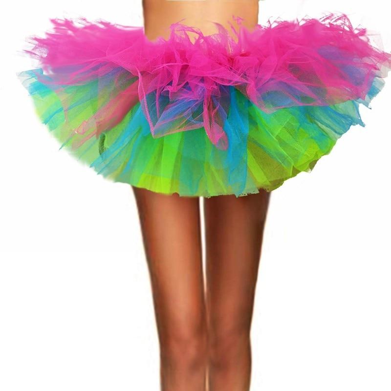 Halloween em camadas tule saia fadas jupe em camadas mini saias curtas das mulheres clássico dos anos oitenta elásticas mini tule saias