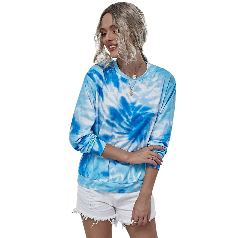 Lybofly Nightshirt Sleep Tops Women's Sleep Lounge Woman Sleep Wear Shirt Round Neck Print Autumn Casual Tshirts Pajamas