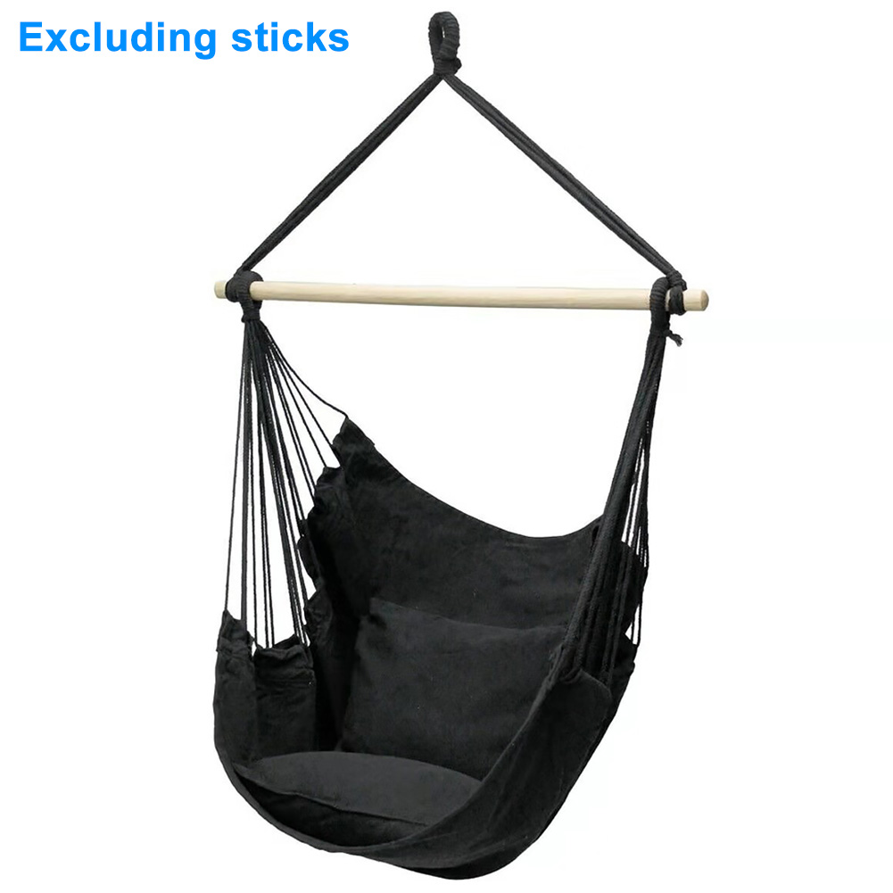 Relaxation Portable Indoor Thickened Canvas Home Garden Bedroom With Cushion Hanging Hammock Chair Outdoor Swing Adults Kids