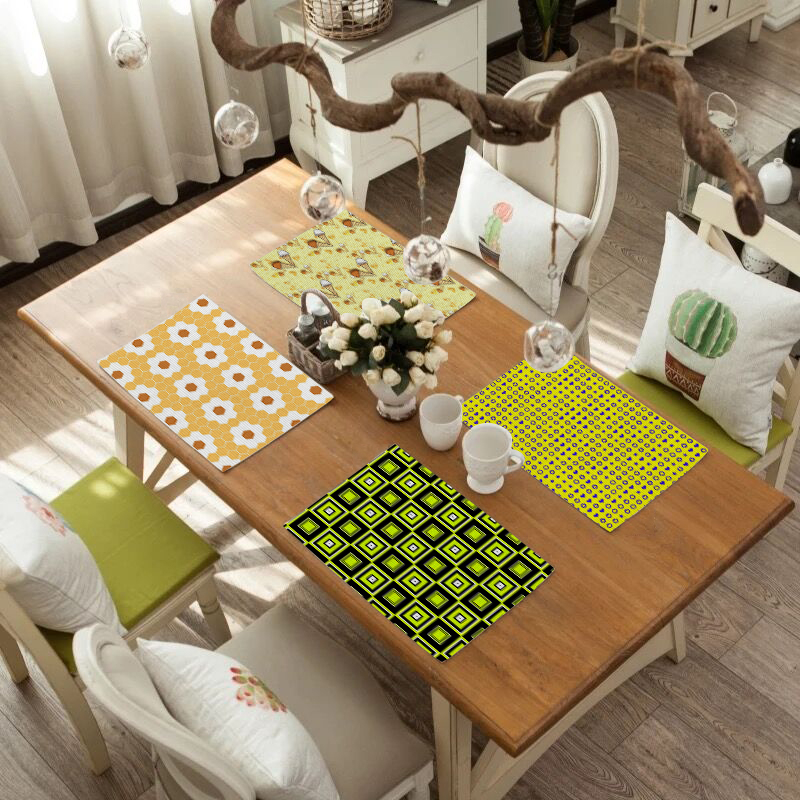 2019 New Fashion Dining Table Placemat Europe Style Kitchen Tool Tableware Pad Coaster Coffee Tea Place Mat for dining table in Mats Pads from Home Garden