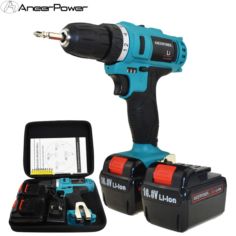 1.5Ah Battery Capacity Drill Electric Screwdriver Power Tools Electric Drill Batteries Screwdriver Mini 16.8v Cordless Drill|cordless drill|electric drill|drill electric - title=