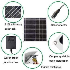 Image 5 - 18V 10w 20w 40w 100w kit pannello solare trasparente flessibile monocristallino modulo solare modulo fai da te connettore esterno caricatore DC 12v