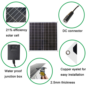 Image 5 - RG  18V 20w 40w 100Wsolar panel kit Transparent flexible Monocrystalline solar cell DIY module outdoor connector DC 12v charger