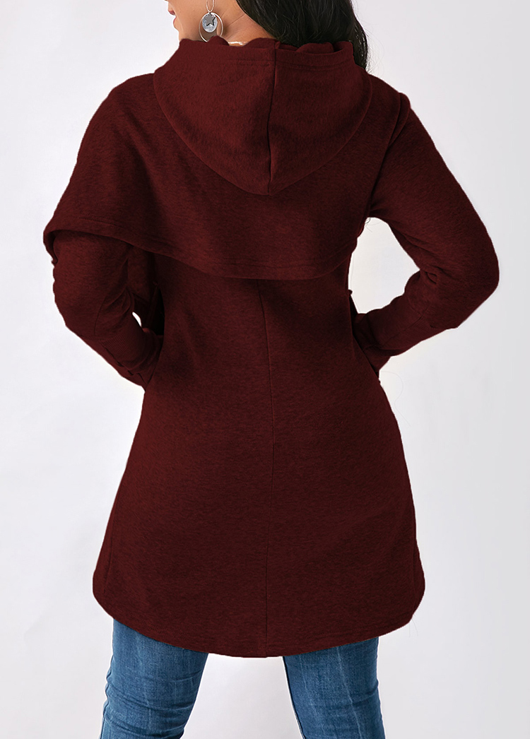 Women Hoodies Sweatshirts Autumn Winter Long Sleeve Pocket Pullover Hoodie 23