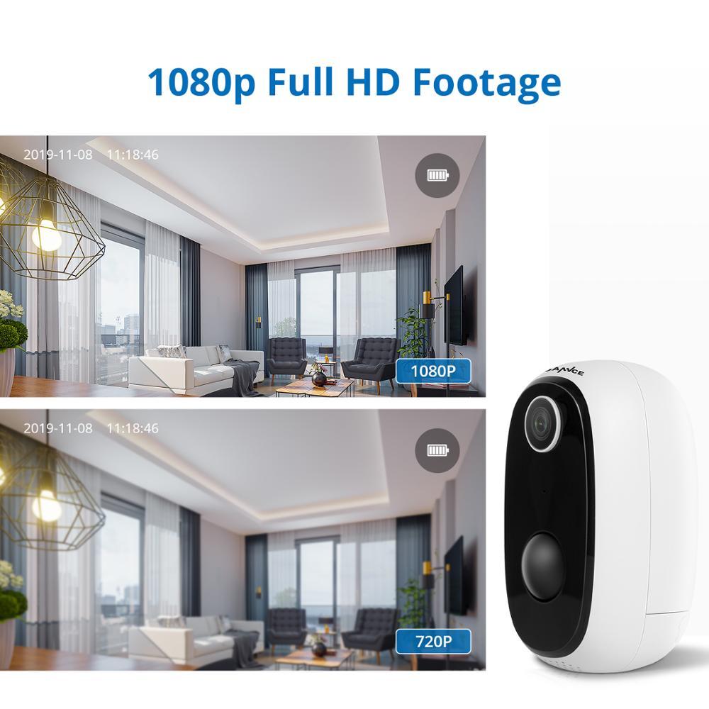 SANNCE IP65 Outdoor PIR IP Kamera 1080P Wirklich Drahtlose Überwachungs Kamera Home Security Wasserdichte Batterie WiFi IP Kamera