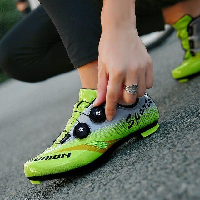 FAD VELOCIDADE New Unissex Sapatos de Bicicleta de Estrada Sapatos de Ciclismo Sapatos de Bicicleta Mtb ultraleves tênis de bicicleta auto-bloqueio Tamanho respirável 46 3