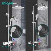 MICOE shower set thermostatic shower mixer Chrome faucet body copper casting faucet 5 mode nozzle