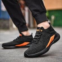 Nieuwe Vier Seizoenen Lace Up Mesh Mannen Casual Schoenen Comfortabel Licht Ademend Wandelen Sneakers Vrouwen Flats Outdoor Plus Size 37 45