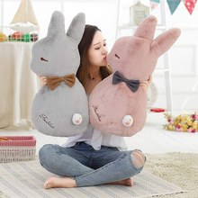 New Super Soft Rabbit Plush Pillow Toy Cartoon Animal Three Colors Bunny Stuffed Doll Bed Cushion Kid Birthday Gift