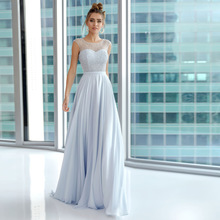 Sexy Graduation Dresses Chiffon Pleat Pearls Scoop Sleeveless Lace Up A-Line Gowns Novia Do Vestidos 2021 Party Cheap Simple